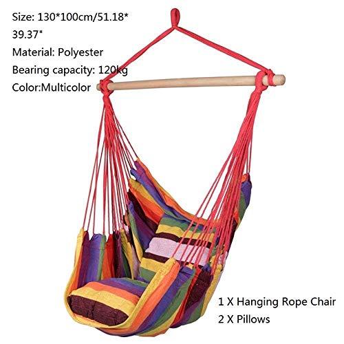 Gifftiy hangmat boom riem 1-2 persoon schommelstoel tuin hangmat canvas stof opknoping bed camping jagen slapende schommel B