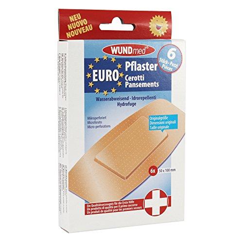 WUNDmed® Euro-Pflaster wasserabweisend 50 x 100 mm 6 Stück/Packung
