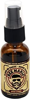 Honey House Naturals Bee Manly Beard Elixir - Brisk Citrus Scent - 1 ounce Spray Bottle - All Natural Ultra Moisturizing B...
