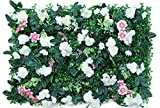 LVLUOKJ Paneles Artificiales de setos topiarios Telón de Fondo de vegetación Protección de la privacidad 40 * 60 CM Bricolaje Bricolaje Arbustos de Plantas de imitación (Color : 19)
