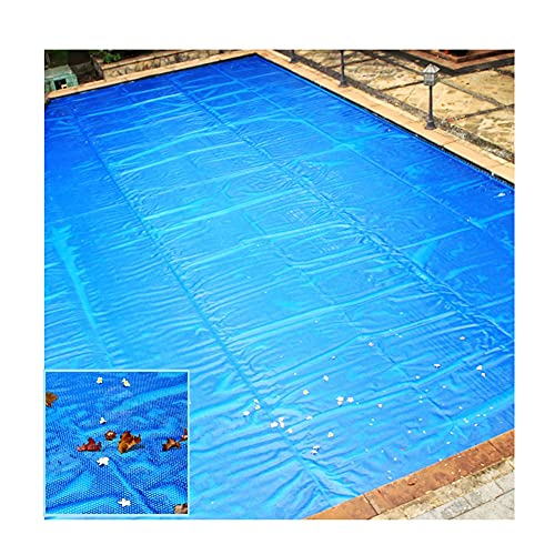 LJIANW-lonas impermeables exterior, Natación Cubierta De Piscina Rectangular Cubierta Solar Burbujas Azules Impermeable Guardapolvo Plegable Cubierta De Piscina De Tierra, 52Tamaños