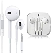 MU-New 2PCS Headphones Earphones with Remote & Mic Compatible with Apple iPhone 6S 6 5 5S 4S