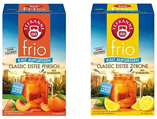 Teekanne frio Eistee Doppelpack - Classic Eistee Pfirsich und Zitrone (2 x 45g)