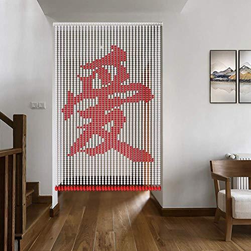 ZXL familie liefde zegen parels gordijnen kristal glazen kralen deur gordijn kamerverdeler decoratie snaren paneel (kleur: A, grootte: 40 snaren 75x150cm)