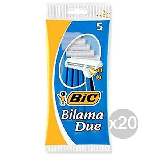 Set 20 BIC 2 Bilama Azzurre X 5 Rasoio Rasatura Viso E Corpo