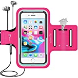 Smartlle Phone Armband Running Workout Holder for iPhone 11/11 Pro Max/Xs Max/XR/8 Plus/7 Plus/6s Plus, Samsung Galaxy S/Note, Up to 6.5'' Large Phones, Fitness Gym Gear for Sports, Exercise-Pink