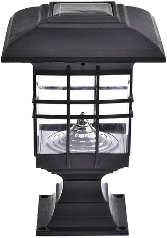 Magosca Wasserdichte LED Solar Column Wandleuchte LED Outdoor Solar Licht Sulenlampe Villa Garden Porch Home Landschaft Beleuchtung Garten Garten Dekoration Anti-Rost-Pfosten-Lampe