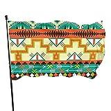 Ahdyr Southwest Southwestern Navajo Bandera de jardín Azteca Abstracta Bandera de 3 x 5 pies con Ojales de latón Fly House Interior Exterior Casa Barco Yate Coche Decoraciones
