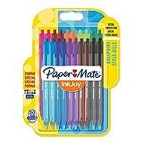 PaperMate InkJoy 100RT - Bolígrafo retráctil, punta media de 1 mm, paquete de 20, alegres colores surtidos