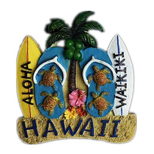 Weekinglo Souvenir Tabla de Surf Hawaii America EE. UU. Imán de Nevera Resina 3D Artesanía Hecha A Mano Turista Recorrido de Recuerdos de la Ciudad Carta de Colección Refrigerador Etiqueta