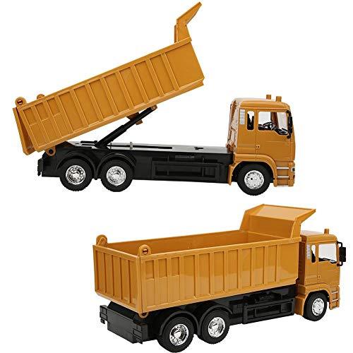 Camión RC, flexible, juguete de camión basculante RC, con música ligera para niños, regalo para adultos, niños y niñas
