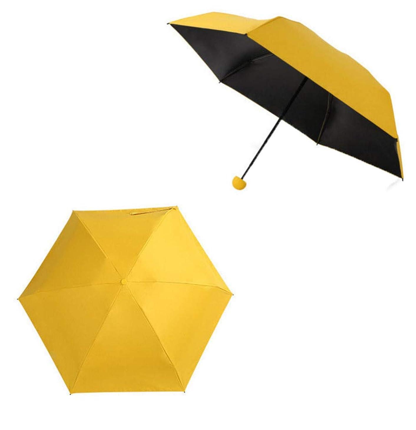 恐怖症かんたん言うまでもなく折り畳み傘 カプセル傘 完全遮光 UVカット 紫外線遮蔽率99% 遮光 遮熱 耐風撥水携帯しやすい レディー 晴雨兼用 ミニ傘 六本骨