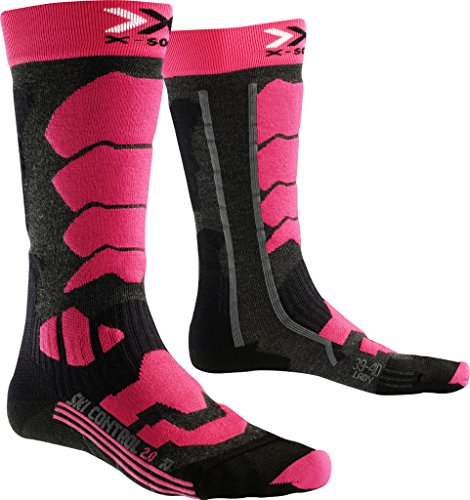 X-Socks Damen Socken SKI CONTROL 2.0 LADY, Anthracite/Fuchsia, 39/40, X100091