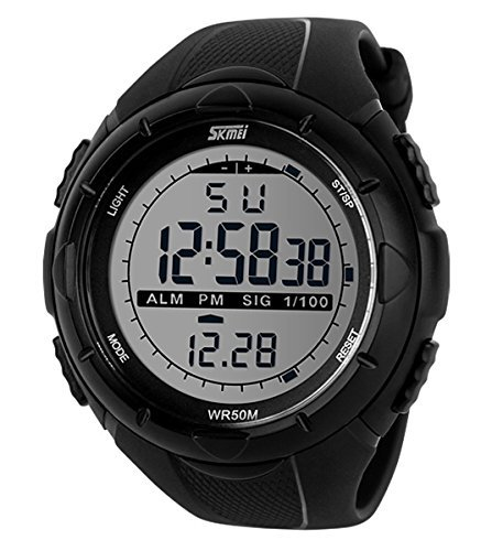 Skmei Herren sk1025b Boy \'s Outdoor Sport wasserdicht digital Armbanduhr Schwarz Big Zifferblatt