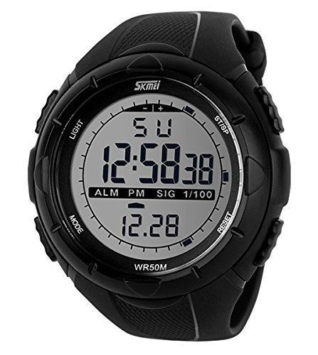 SKMEI 1025 - Orologio da polso da uomo, Plastica, colore: Nero