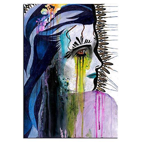 Imprimir en Lienzo Moda Chicas Hermosas para Carteles e imágenes, Ilustraciones, Arte de Pared, decoración para Sala de Estar,70x95cm,Pintura sin Marco