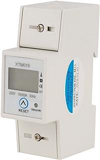 Medidor eléctrico digital monofásico de 2 hilos, 2 hilos, 2 cables DIN KWh, 220 V 10 (40)