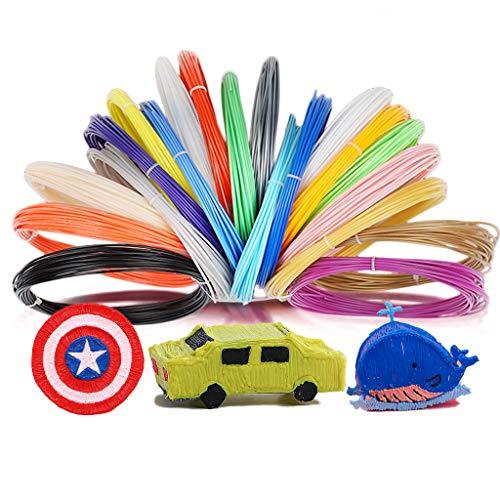 Kit de PLA Filamentos para 3D Pen, 1.75mm PLA Materiales Filament de Lápices 3D Impresora Repuesto Accesorios Saludable para Niños y Adultos DIY Colores al Azaar
