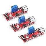 Módulo de sensor, 3 unidades mini micrófono de alta sensibilidad módulo de sensor de sonido módulo de detección de voz reemplazo para Arduino