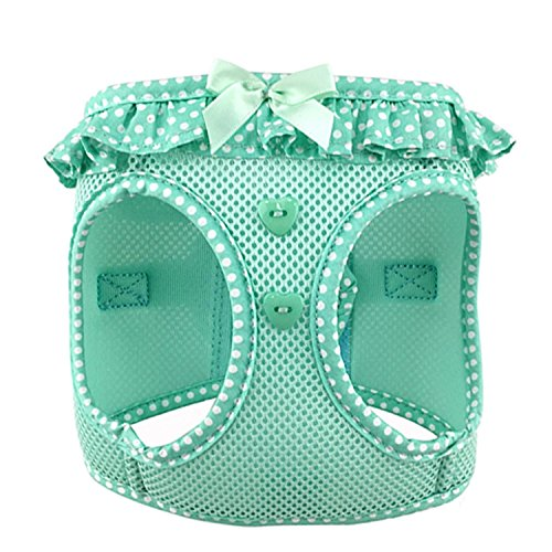 DOGGIE DESIGN American River Choke Free Dog Harness (S, Teal Polka Dot)
