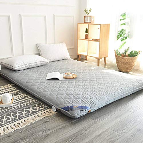 Japanese Tatami Mattress, Futon Mattress Full Size Folding Floor Mattress for Guest Room Japanese Bed Student Dormitory -Gray-Queen(59x79inch)
