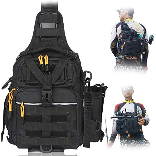 BLISSWILL Fishing Backpack Outdoor Tackle Bag...