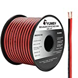 TYUMEN 100FT 14 Gauge 2pin 2 Color Red Black Cable Hookup Electrical Wire LED Strips Extension Wire 12V/24V DC Cable, 14AWG Flexible Wire Extension Cord for LED Ribbon Lamp Tape Lighting