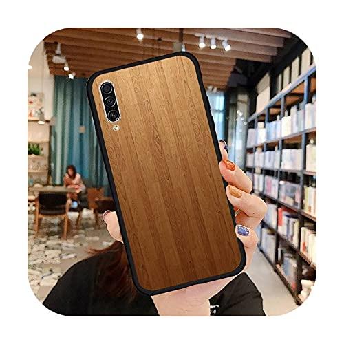 moda de madera moda teléfono caso para Samsung A20 A30 30s A40 A7 2018 J2 J7 prime J4 Plus S5 Note 9 10 Plus cubierta funda-a12-Samsung A40