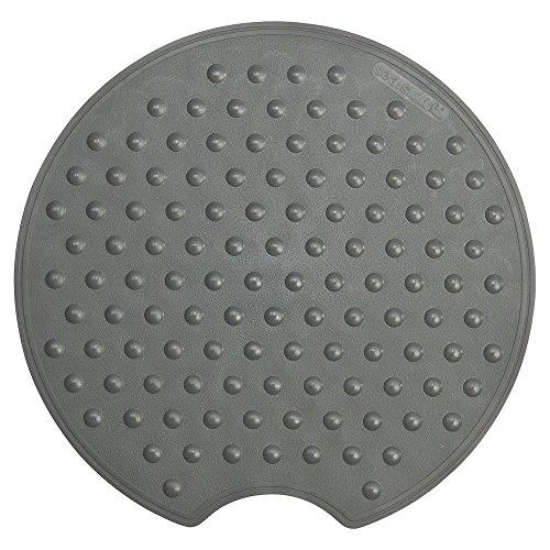 Sealskin Rotondo Sicherheitseinlage für Dusche und Badewanne, Farbe: Anthrazit, Material: Gummi, Durchmesser: 55 cm
