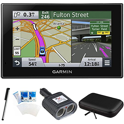 "Garmin Nuvi 2689LMT 010-01188-02 North America 6"" Bluetooth Voice Activated, Lifetime Maps and Traffic USA Canada Mexico Maps GPS Essentials Bundle Includes Dual Socket Cigarette Adapter & More"