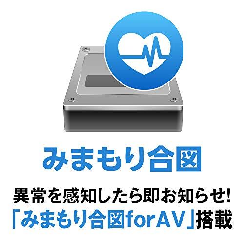 BUFFALO24時間連続録画対応使用量メーター付き3.5インチ外付けHDD4TBHDV-SAM4.0U3-BKA