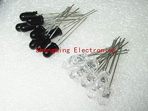 20pcs 5mm 940nm LED-Infrarotsender und IR-Empfänger 10pairs Dioden F5 NEUE 300A