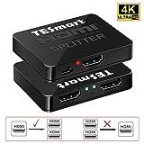 HDMI分配器 1入力2出力 hdmiスプリッター 1X2 HDMI Splitter 2台のHDMI搭載機器に出力 4K@30Hz対応 2ポート出力 2分配器 PS3 DVDプレーヤー HDTV対応 USB給電 12ヶ月保証付き TESmart (2port 黒)