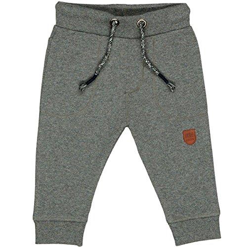 Unisex Baby Jogginghose | Kordelzug Stone Grey Mel. | elastische Rippbündchen Größe 86 für Jungen und Mädchen