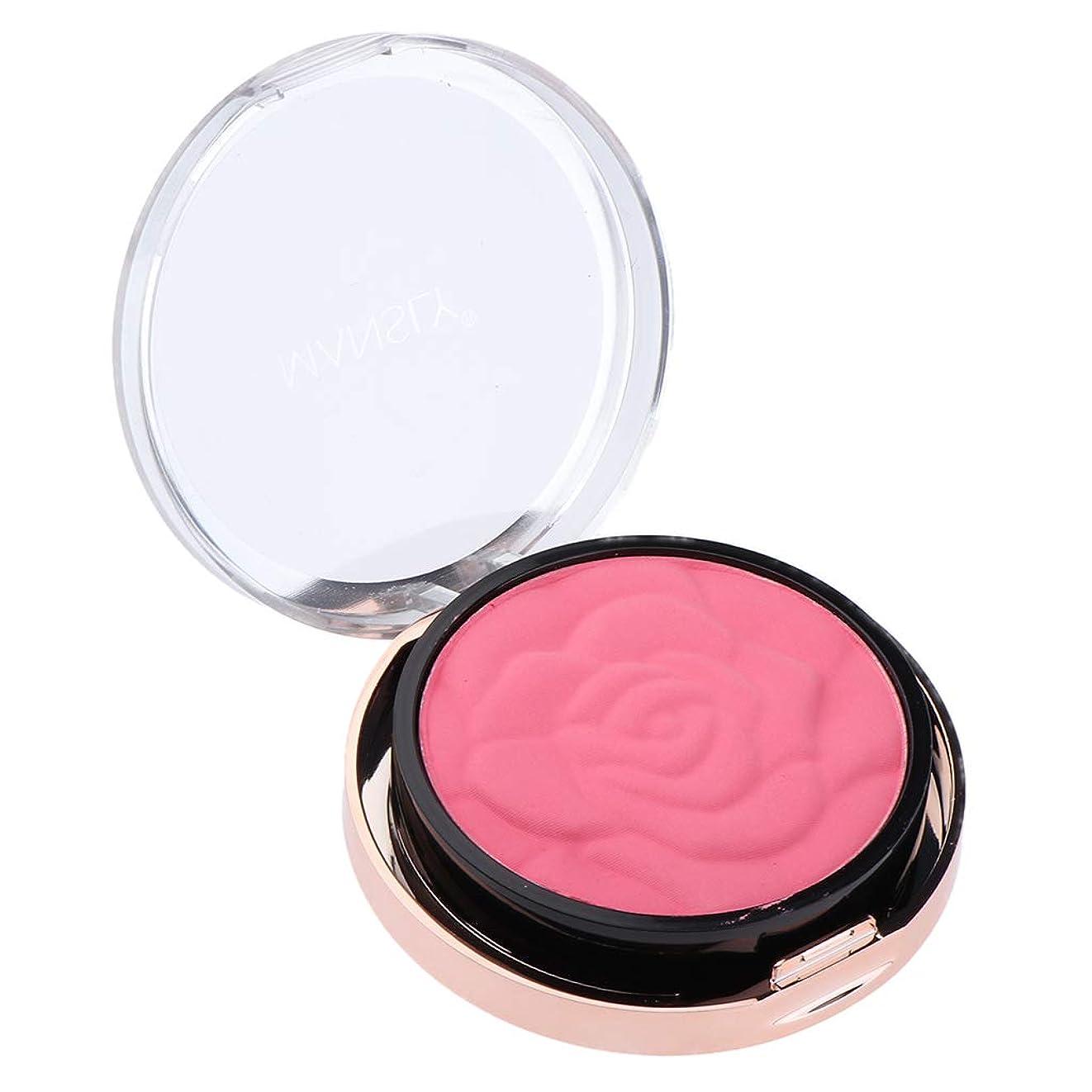 縁石原始的な重さB Baosity メイクアップ チーク 頬紅 化粧ブラシ 魅力的 長持ち 4色選べ  - ガールピンク