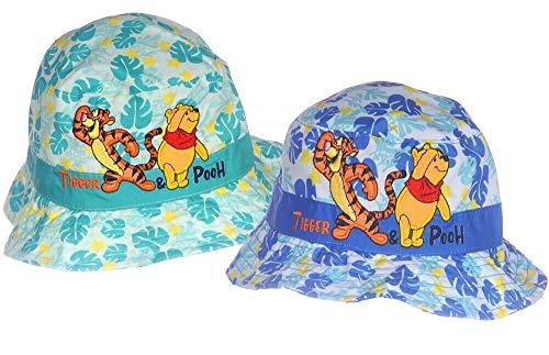Mütze Sommer Hut Baby Fischerhut 48 50 cm KU Kopfbedeckung Winnie Pooh Disney (blau, 49-50cm.)