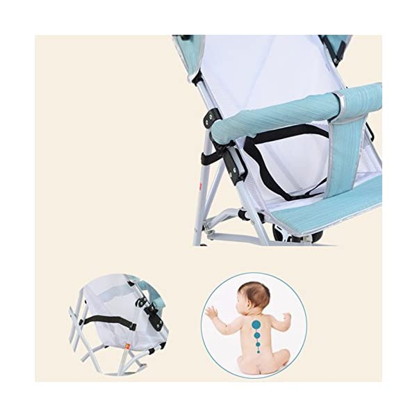 JXCC Travel Systems Baby Stroller Stroller Portable Four-Wheeled Cart Lightweight Folding Umbrella Four Seasons Universal -Safe And Stylish Green2 JXCC ★ Multi-speed adjustment carport, sun protection carport protects baby's delicate skin, awning/front armrests are detachable. ★ Full-angle flexible wheels, flexible steering, easy to implement, and free to control. ★ Bearing strong, rest assured to use. 3
