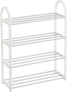 comprar comparacion Mueble Zapatero de 4 baldas de plástico Blanco Moderno para Dormitorio Basic - LOLAhome