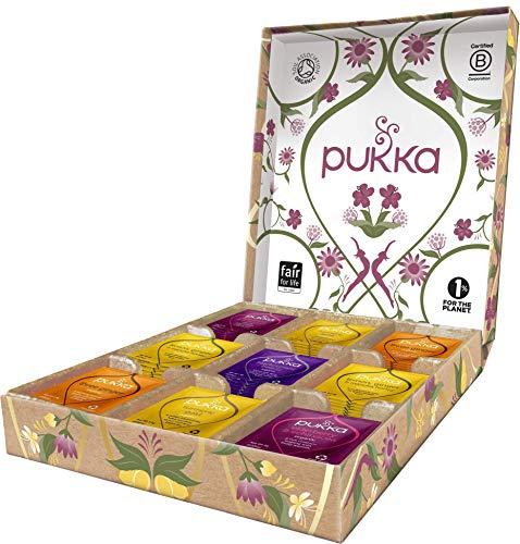 Pukka Wohlfühl Selection Geschenk Box, Kollektion ausgewählter Bio-Kräutertees (1 Box, 45 Bio-Teebeutel) 75 g