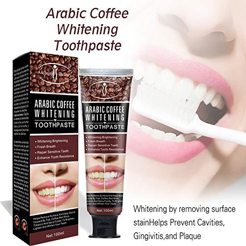ETbotu Kosmetik 100ml Kaffeebohne Zahnpasta Zahnpflege Natürliche Kaffeebohne Zahnaufhellung Hartnäckige Zahnflecken entfernen Zahnpasta Oral Dental