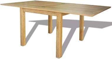 SKM Table Extensible Chêne 170 x 85 x 75 cm