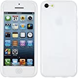PhoneNatic Coque en Silicone Compatible avec Apple iPhone 5c - X-Style Blanc - Cover...
