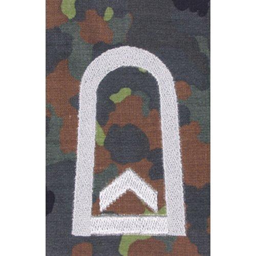 Unbekannt 1 Paar Bundeswehr Rangabzeichen Flecktarn/Silber Rangschlaufe Rangschlaufen Abzeichen Schlaufe Verschiedene Dienstgrade (Feldwebel)