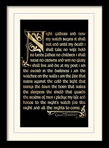 Game Of Thrones Juego de Tronos de 30 x 40 cm Temporada 3 tallar Juramento montado y impresión enmarcada