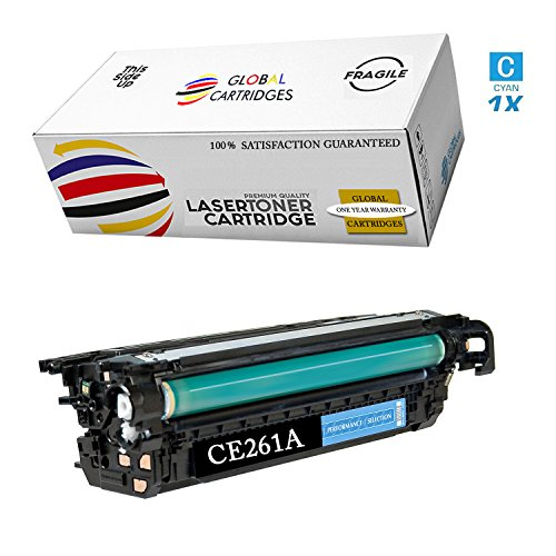 GLB Premium Quality Remanufactured Replacement for HP 648A Cyan CE261A Toner Cartridge for HP Color Laserjet CP4520, CP4025, CP4025N, CP4025DN, CP4525N, CP4525DN, CP4525XH