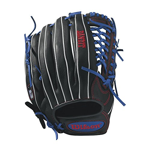 Wilson Bandit Kp92 Baseball Glove, 12.5', Black/Royal/White, Left Hand