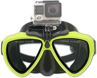 PATALACHI DERTA سيليكون الغوص مع برغي قابل للفصل قناع الغوص الغوص الغوص نظارات السباحة لكاميرا جو برو HD Hero 8/7/6/5/4/3،...
