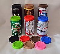 (4pcs / lot) de qualité alimentaire couvercles silicone pour boîtes de coke et cannette de bière, couvercles écologiques pour les boîtes pop, antipoussière couvercles pour canette de soda (4pcs / lot) de qualité alimentaire couvercles silicone pour b...
