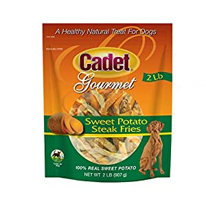 Cadet 2-Pound Sweet Potato Steak Fries Dog Snack, Model: AN-LTSQ-AQEU