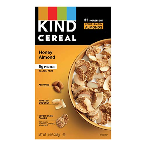 KIND Breakfast Cereal, Honey Almond, Gluten Free, 6g Protein, 10 Oz, 4Count